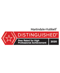 Logo for Martindale-Hubbell Distinguished Status