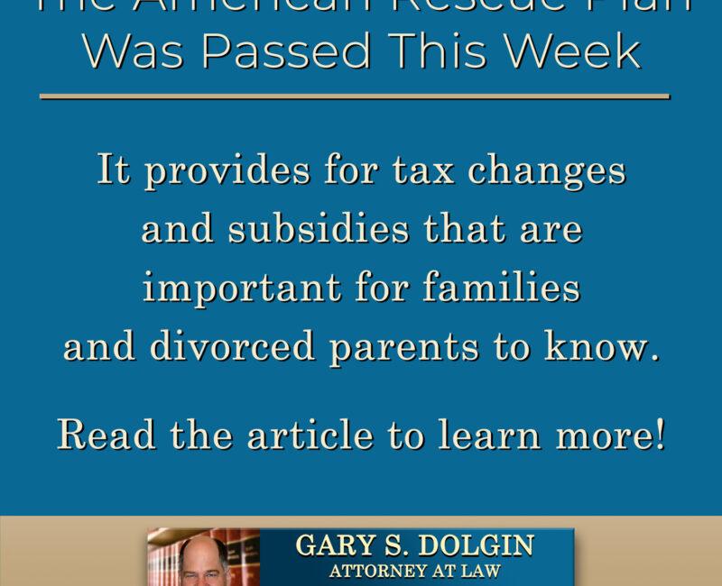 Family Lawyer Gary Dolgin Shares New Tax Info