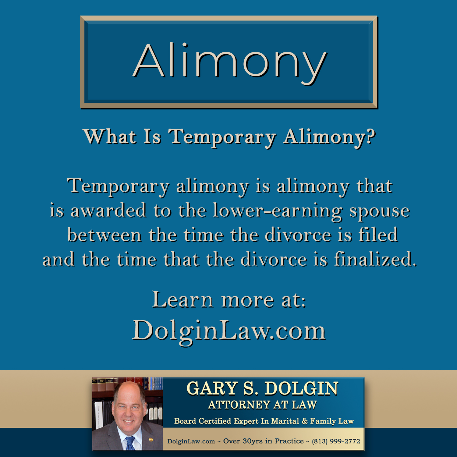 Tampa Spousal Support Lawyer